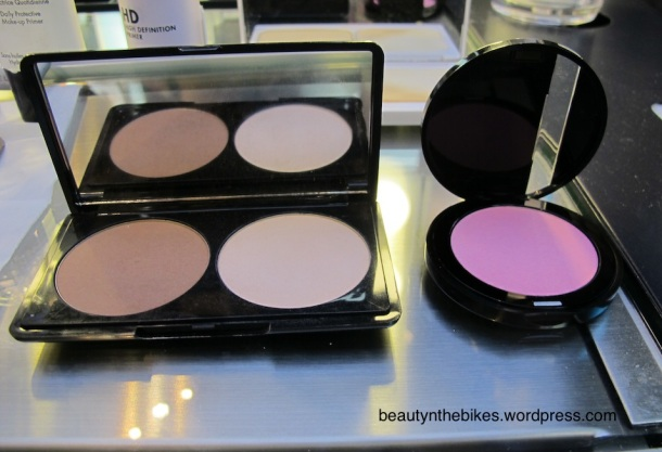 (right) The Sculpting Blush in #6 was then applied to me. It looks like a really bright pink but blends out.