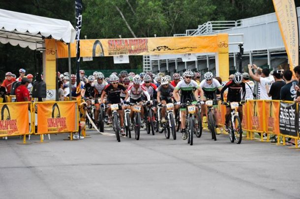 Flag off at the Singapore Mountain Bike Carnival 2012, Tampines Bike Park