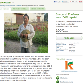 Christmas Countdown Gift Idea #19 – Microloans: The Gift That KeepsGiving