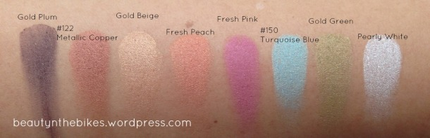 MUFE Arty Blossom Swatches