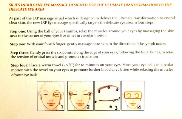 massage technique by SK-II