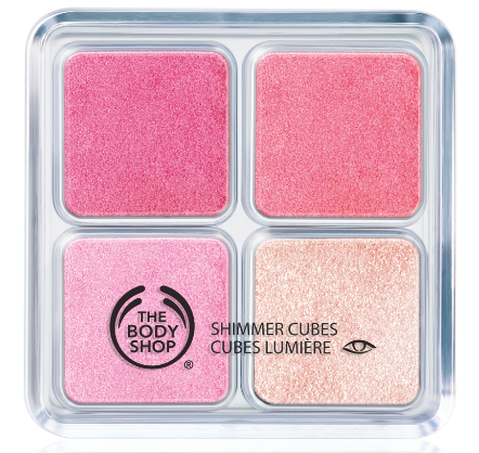 the body shop shimmer cubes pink