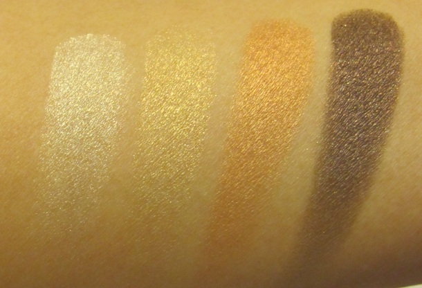 the body shop shimmer cubes swatch gold
