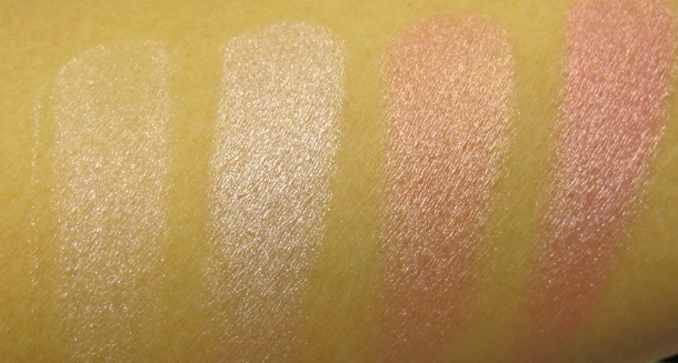 the body shop shimmer cubes swatch pink