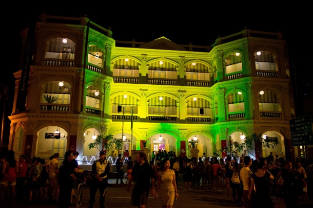The beautiful Peranakan Museum lit up for the Singapore Night Festival